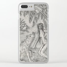 Nude and wolf Clear iPhone Case