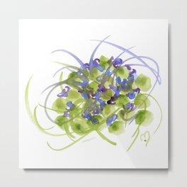 Atom Flowers #13 Metal Print