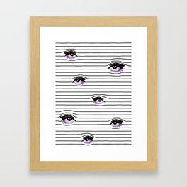 Line of eyes Framed Art Print