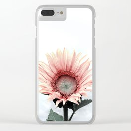 Pink Sunflower Clear iPhone Case