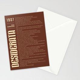 Desiderata by Max Ehrmann - Typography Print 10 Stationery Cards