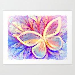 Pastel Butterfly Wings Art Print