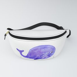 watercolor cute whale Fanny Pack