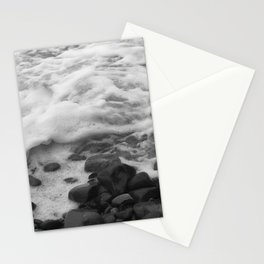 White Waves on Black Rocks Photographic Print Stationery Cards