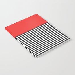 STRIPE COLORBLOCK {POPPY RED} Notebook