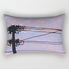 Telephone Pole at Sunset Rectangular Pillow