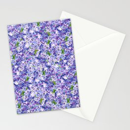 Blue velvety violets Stationery Cards