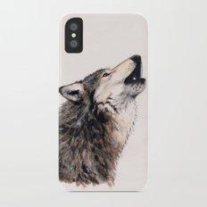 Grey wolf iPhone X Slim Case