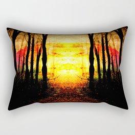 Path To Imagination Golden Rectangular Pillow
