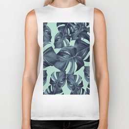 Monstera Leaves Pattern #10 #tropical #decor #art #society6 Biker Tank