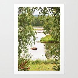 Riverside Kemijoki Finland Art Print