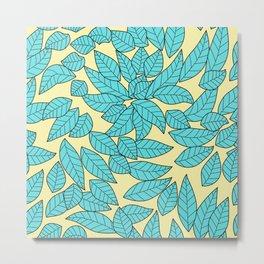 Leaves print Metal Print