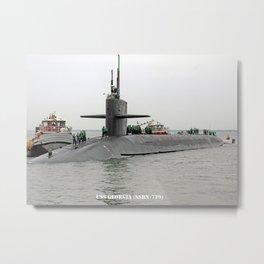 USS GEORGIA (SSBN-729) Metal Print