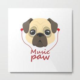 Music Paw Metal Print
