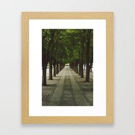 Nature Tunnel Framed Art Print