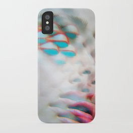 Electric Vision Blue Eyes iPhone Case
