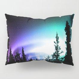 Aurora Borealis Forest Pillow Sham