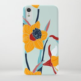 Mid Century spring floral iPhone Case