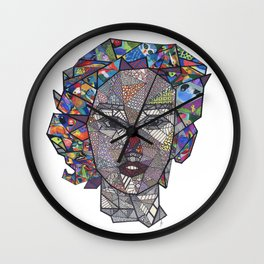 Girl with Birds' Hair Wall Clock