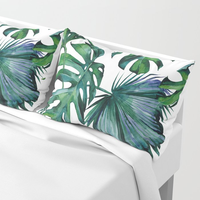 Tropical Palm Leaves Classic Kissenbezug