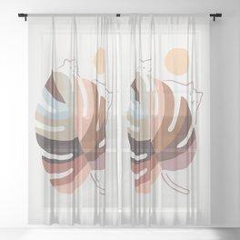 Cat Landscape 76 Sheer Curtain
