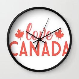 Love canada - Adventure Design Wall Clock