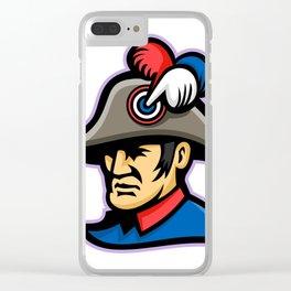 Emperor Head Mascot Clear iPhone Case