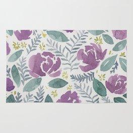 flores violetas Rug