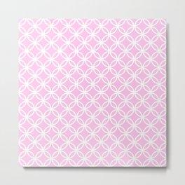 Pink and white interlocking circles Metal Print