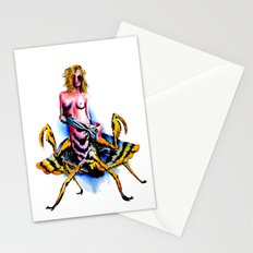 Mantis water color Stationery Cards