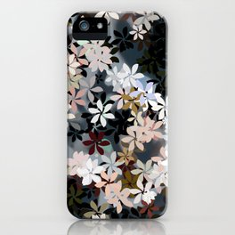 Silver Breeze Flower Garden iPhone Case