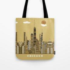 Chicago city (vintage Tote Bag