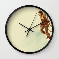 viria Wall Clocks featuring pirate leo by viria