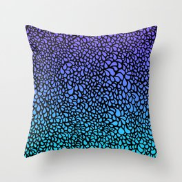 Drops - purple turquoise ombre tones Throw Pillow