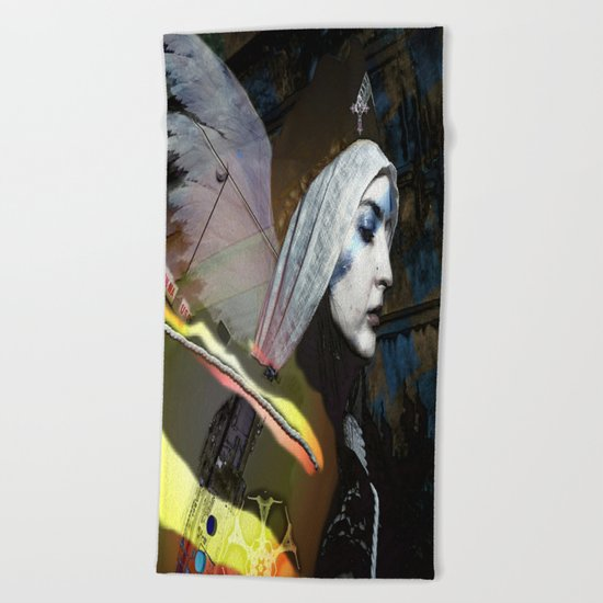 Saint Dymphna Reborn Beach Towel
