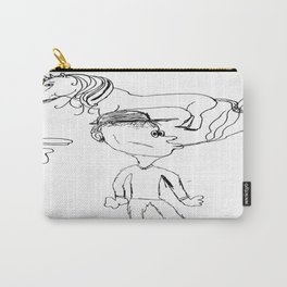 Smoking Unicorn Tail Carry-All Pouch