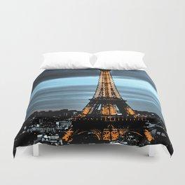 La Tour Eiffel / Nuit Duvet Cover