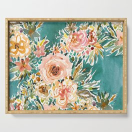 E-BULLIENCE Lush Floral Serving Tray