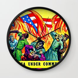 "Cover to the propaganda comic book ""Is This Tomorrow""' Wall Clock"