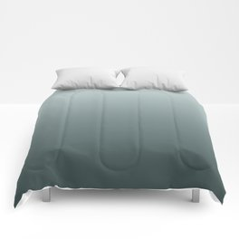 Ombre Gradient Green Inspired by PPG Glidden Colors of 2019 Night Watch and Cave Pearl PPG1145-3 Comforters