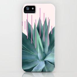 Agave geometrics II - pink iPhone Case