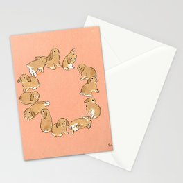12 lop rabbits Stationery Cards