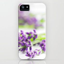 Lavender herb still life iPhone Case