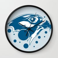 falcon Wall Clocks featuring Falcon by cocoyponce