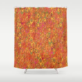 Citrus Swirls Abstract Shower Curtain