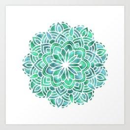 Mandala Southwest Succulent Art Print