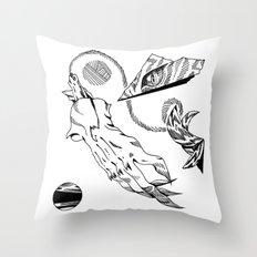 Cat Hand Throw Pillow