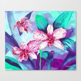 WILD ORCHIDS - VIOLET Canvas Print