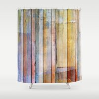 pastel Shower Curtains featuring Pastel by Rafael&Arty