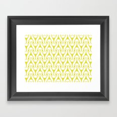 loopy pattern Framed Art Print